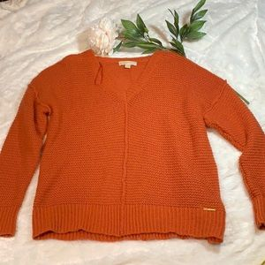 ▶️Michael Kors◀️ oversized orange sweater